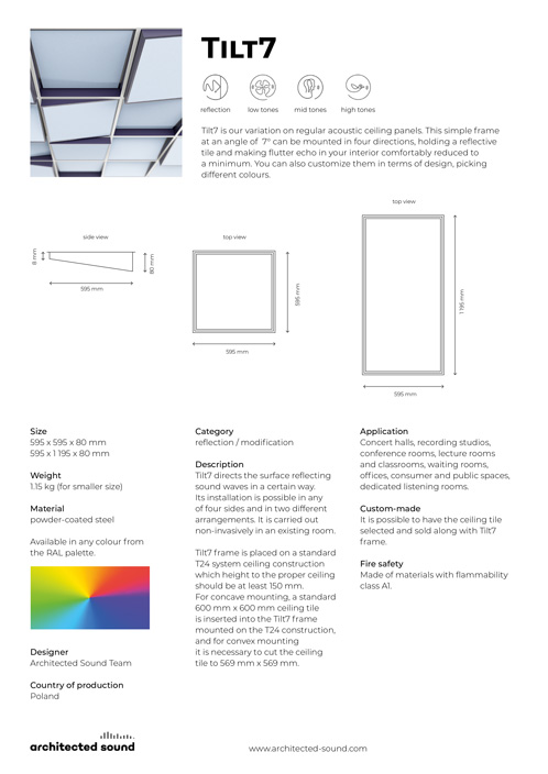 Architected Sound Tilt7 ceiling frame - Thumbnail cover of product sheet