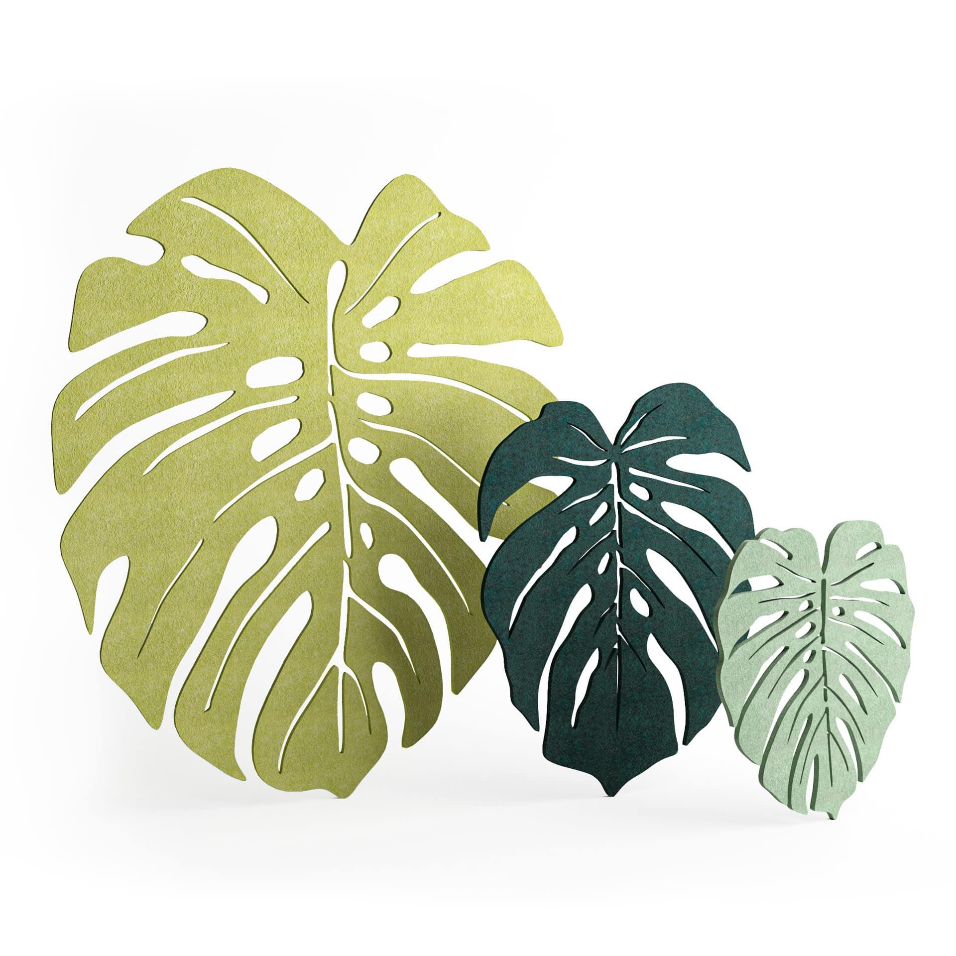Panel dekoracyjny dźwiękochłonny EcoPET w kształcie liścia monstery