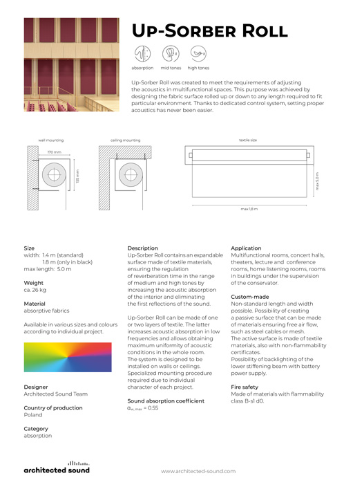 Architected Sound Up-Sorber Roll - Expandable sound-absorbing banner - Thumbnail of product sheet cover