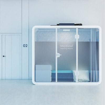 Architected Sound Med-resting Room - Medyczna budka akustyczna izolująca dźwięki - wizualizacja miniatura