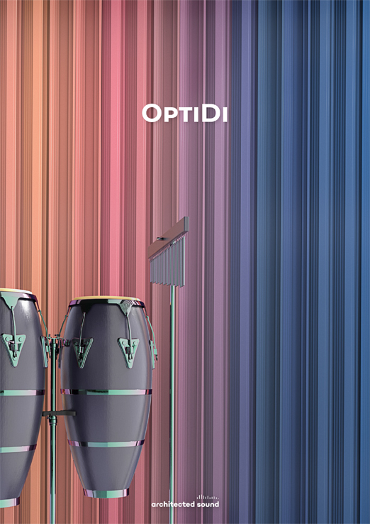 Thumbnail cover of brochure of OptiDi acoustic diffuser