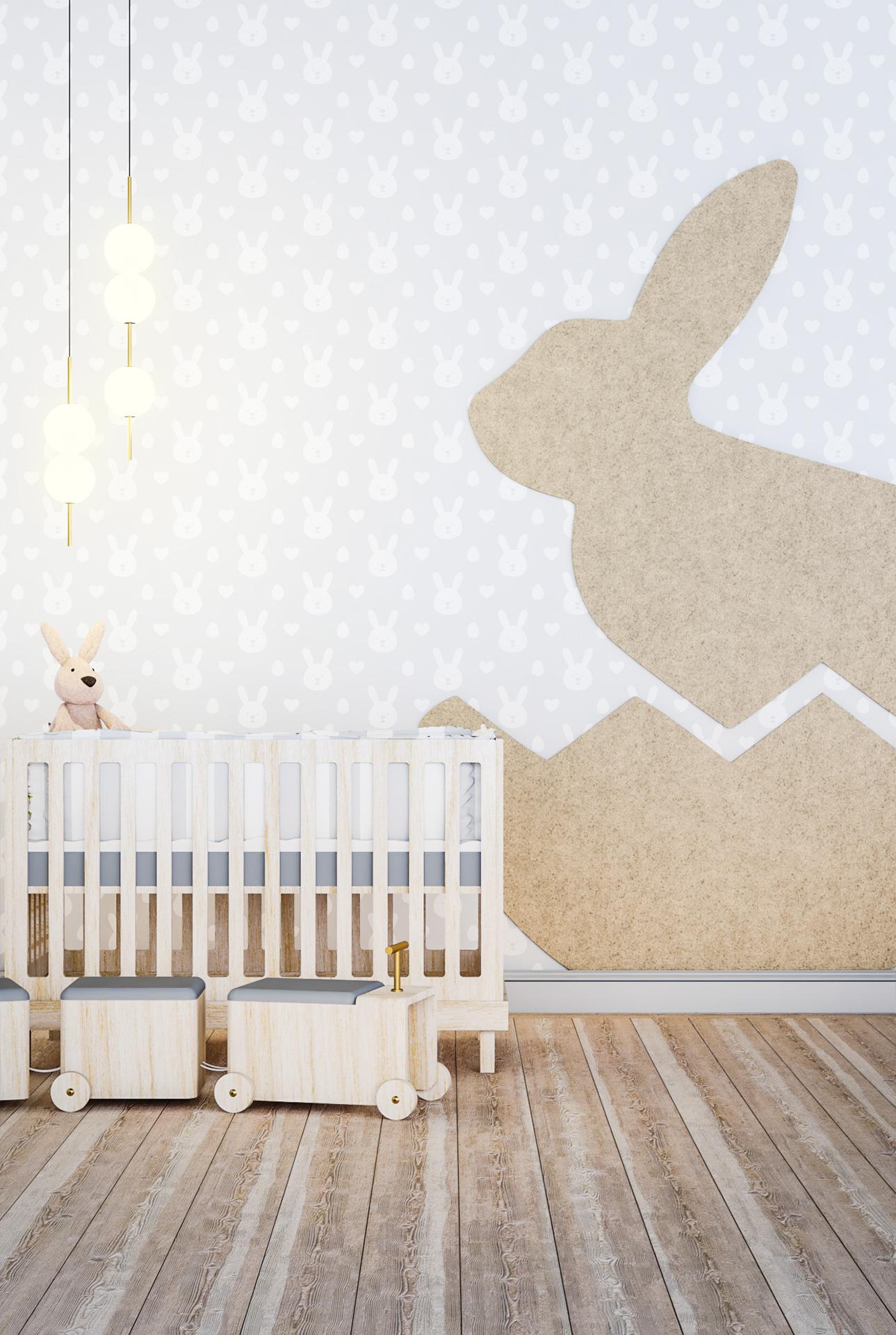 Wizualizacja adaptacji akustycznej pokoju dziecięcego z wykorzystaniem panelu akustycznego EcoPET