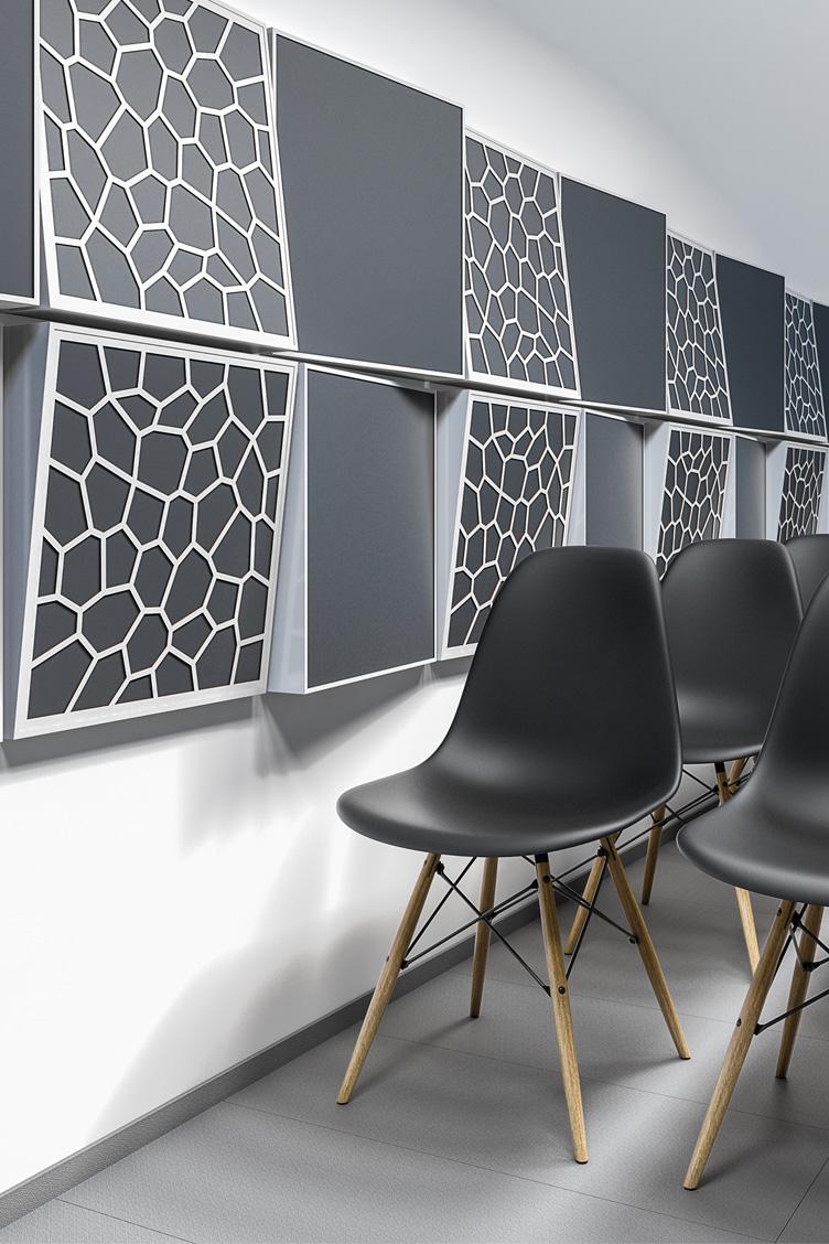 Sala konferencyjna z zastosowaniem ściennego panelu akustycznego odbijającego Tilt Wall