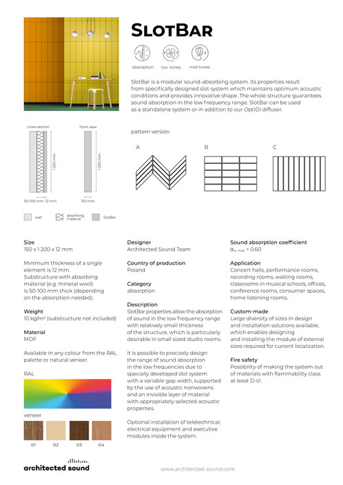 Thumbnail cover of product sheet of SlotBar acoustic panel