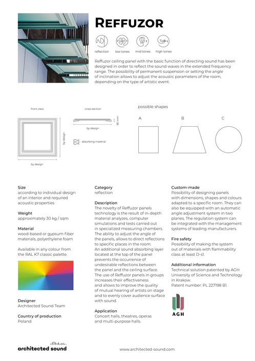Architected Sound Up-Sorber Roll - Sound reflection panel - Thumbnail of product sheet cover