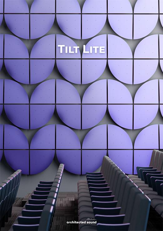 Miniatura okładki broszury panelu akustycznego Tilt Lite