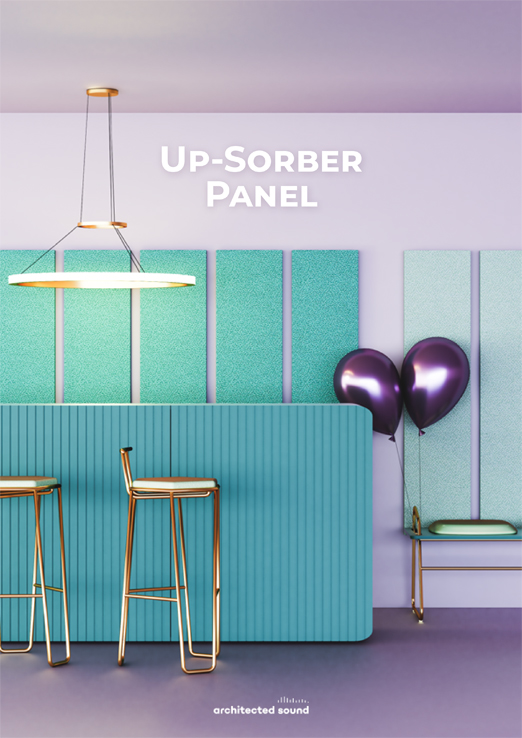 Architected Sound Up-Sorber Wall sound absorbing panel - Thumbnail cover of brochure