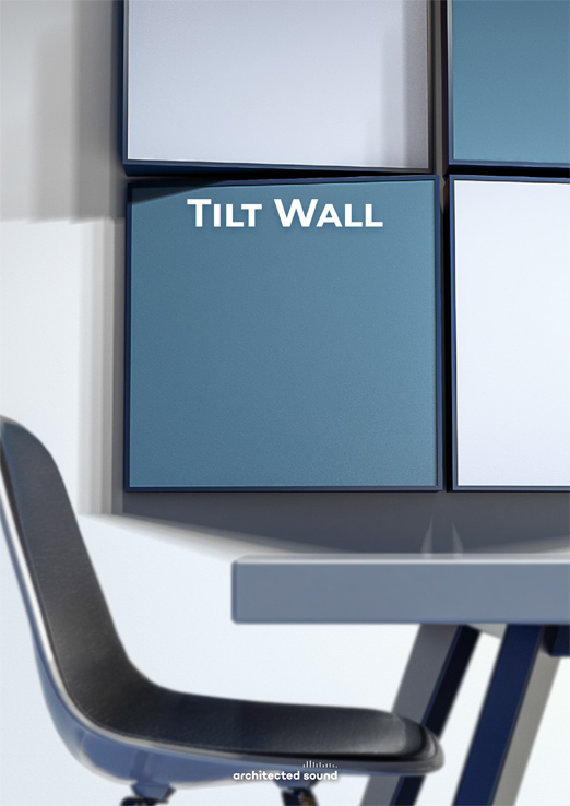 Architected Sound Tillt Wall - Sound reflecting system panel - Thumbnail cover of brochure