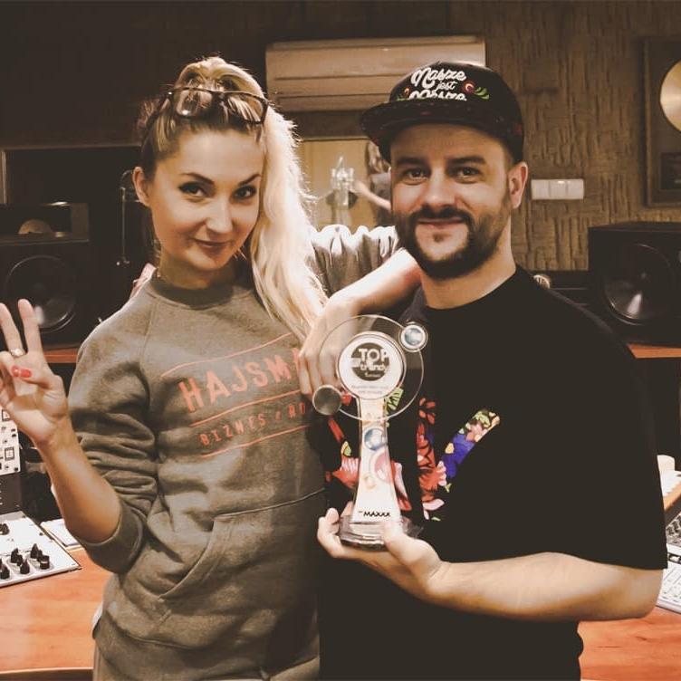 Cleo i Jarosław JARO Baran w studio nagraniowym Architected Sound