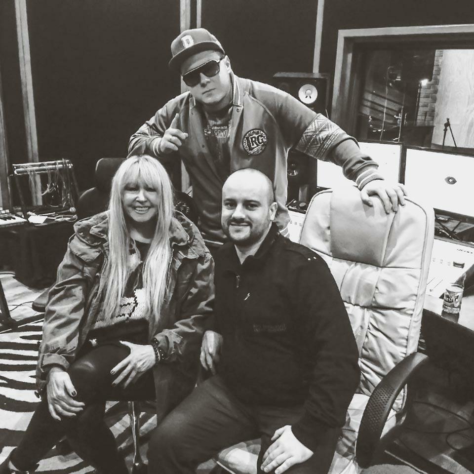 Donatan, Maryla Rodowicz i Jarosław JARO Baran w studio nagraniowym Architected Sound