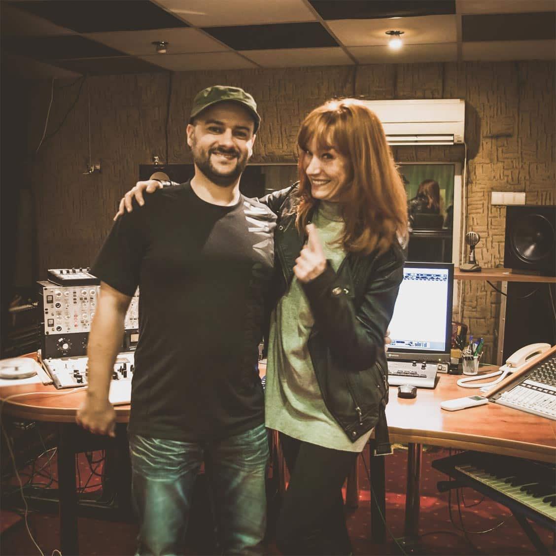 Magda Walach i Jarosław JARO Baran w studio nagraniowym Architected Sound