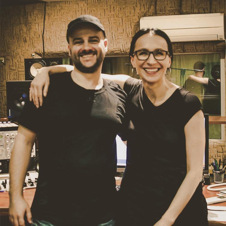 Renata Przemyk i Jarosław JARO Baran w studio nagraniowym Architected Sound