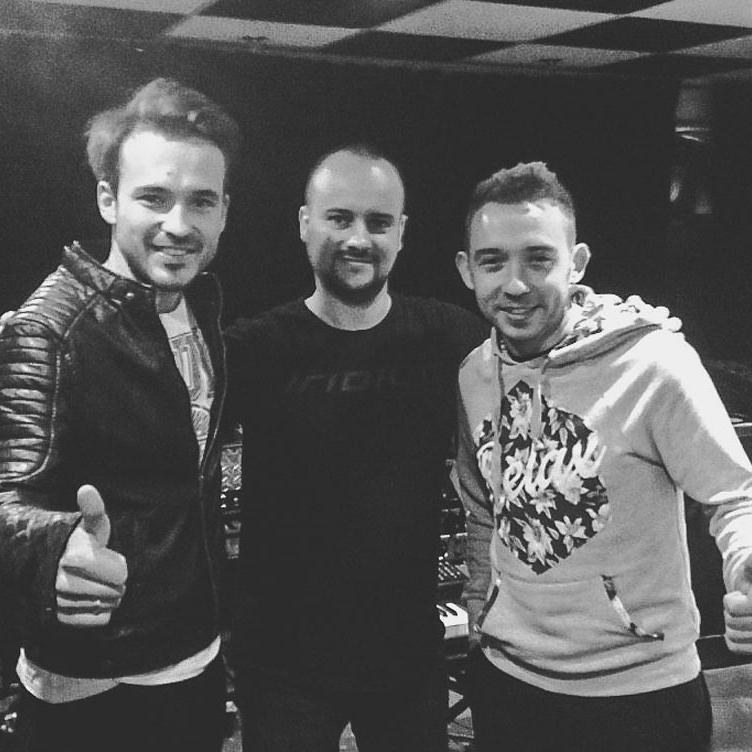ENEY i Jarosław JARO Baran w studio nagraniowym Architected Sound