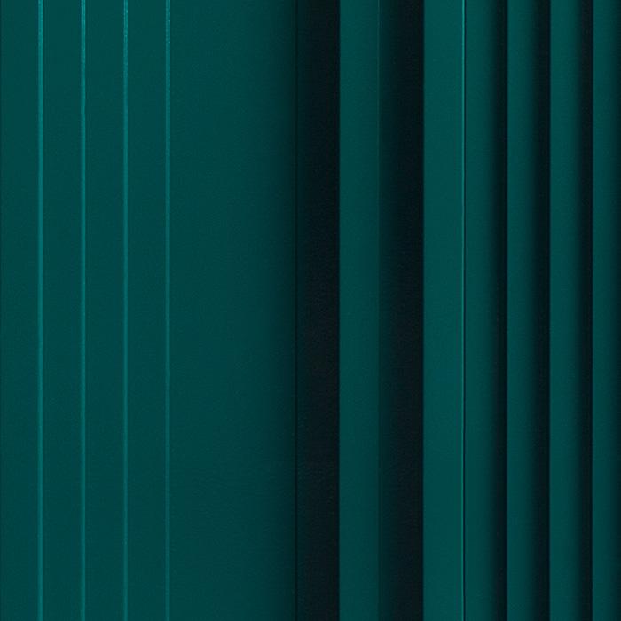 Próbka koloru RAL panelu akustycznego OptiDi w kolorze butelkowej zieleni